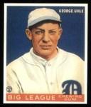 1933 Goudey Reprints #100  George Uhle  Front Thumbnail