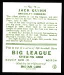 1933 Goudey Reprint #78  Jack Quinn  Back Thumbnail