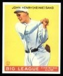 1933 Goudey Reprint #85  Heinie Sand  Front Thumbnail