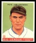 1933 Goudey Reprints #83  Pete Jablonowski  Front Thumbnail