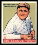 1933 Goudey Reprint #181  Babe Ruth  Front Thumbnail