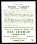 1933 Goudey Reprint #36  Tommy Thevenow  Back Thumbnail
