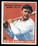 1933 Goudey Reprint #149  Babe Ruth  Front Thumbnail