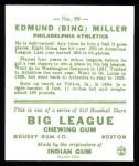 1933 Goudey Reprint #59  Bing Miller  Back Thumbnail