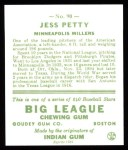 1933 Goudey Reprints #90  Jess Petty  Back Thumbnail