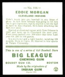 1933 Goudey Reprint #116  Eddie Morgan  Back Thumbnail