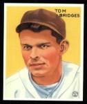 1933 Goudey Reprints #199  Tommy Bridges  Front Thumbnail