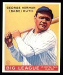 1933 Goudey Reprints #53  Babe Ruth  Front Thumbnail