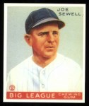 1933 Goudey Reprint #165  Joe Sewell  Front Thumbnail