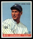 1933 Goudey Reprints #134  Sam Rice  Front Thumbnail