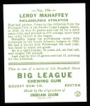 1933 Goudey Reprints #196  Leroy Mahaffey  Back Thumbnail