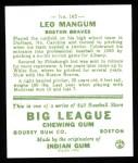 1933 Goudey Reprints #162  Leo Mangum  Back Thumbnail