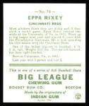 1933 Goudey Reprint #74  Eppa Rixey  Back Thumbnail