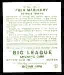 1933 Goudey Reprint #104  Fred Marberry  Back Thumbnail