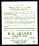 1933 Goudey Reprint #96  Willis Hudlin  Back Thumbnail