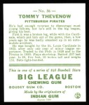 1933 Goudey Reprints #36  Tommy Thevenow  Back Thumbnail