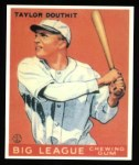 1933 Goudey Reprints #40  Taylor Douthit  Front Thumbnail