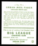 1933 Goudey Reprints #79  Red Faber  Back Thumbnail
