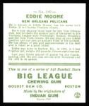 1933 Goudey Reprint #180  Eddie Moore  Back Thumbnail