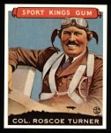 1933 Sport Kings Reprint #27  Roscoe Turner   Front Thumbnail