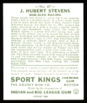 1933 Sport Kings Reprint #47  J.H. Stevens   Back Thumbnail