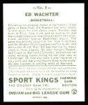 1933 Sport Kings Reprint #5  Ed Wachter   Back Thumbnail