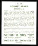 1933 Sport Kings Reprint #33  Eddie Burke   Back Thumbnail