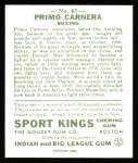 1933 Sport Kings Reprint #43  Primo Carnera   Back Thumbnail
