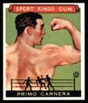 1933 Sport Kings Reprint #43  Primo Carnera   Front Thumbnail