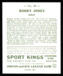 1933 Sport Kings Reprint #38  Bobby Jones  Back Thumbnail