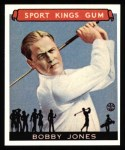 1933 Sport Kings Reprint #38  Bobby Jones  Front Thumbnail