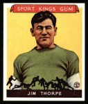 1933 Sport Kings Reprint #6  Jim Thorpe   Front Thumbnail
