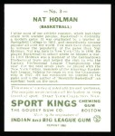 1933 Sport Kings Reprint #3  Nat Holman   Back Thumbnail