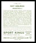 1933 Sport Kings Reprint #3  Nat Holman   Back Thumbnail