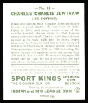 1933 Sport Kings Reprint #11  Charles Jewtraw   Back Thumbnail