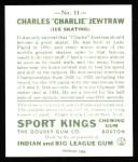 1933 Sport Kings Reprint #11  Charles Jewtraw   Back Thumbnail