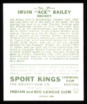 1933 Sport Kings Reprint #29  Ace Bailey   Back Thumbnail