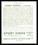 1933 Sport Kings Reprint #26  James Wedell   Back Thumbnail