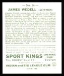 1933 Sport Kings Reprint #26  James Wedell   Back Thumbnail