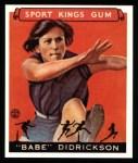 1933 Sport Kings Reprint #45  Babe Didrickson   Front Thumbnail