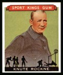 1933 Sport Kings Reprints #35  Knute Rockne   Front Thumbnail