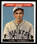 1933 Sport Kings Reprint #42  Carl Hubbell   Front Thumbnail