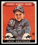 1933 Sport Kings Reprint #39  Jack Westrope   Front Thumbnail