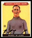 1933 Sport Kings Reprint #12  Bobby McLean  Front Thumbnail