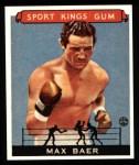 1933 Sport Kings Reprints #44  Max Baer   Front Thumbnail
