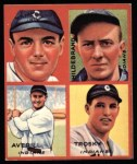 1935 Goudey 4-in-1 Reprints #7 E Earl Averill / Oral Hildebrand / Willie Kamm / Hal Trosky  Front Thumbnail