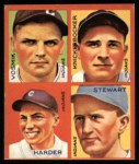 1935 Goudey 4-in-1 Reprint #8 I Joe Vosmik / Bill Knickerbocker / Mel Harder / Lefty Stewart  Front Thumbnail