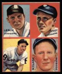 1935 Goudey 4-in-1 Reprint #5 E Sam Leslie / Lonnie Frey / Joe Stripp / Watson Clark  Front Thumbnail