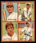 1935 Goudey 4-in-1 Reprints #8 L Al Spohrer / Flint Rhem / Ben Cantwell / Larry Benton  Front Thumbnail