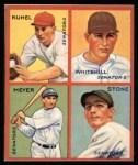 1935 Goudey 4-in-1 Reprint #8 H Joe Kuhel / Earl Whitehill / Buddy Myer / John Stone  Front Thumbnail